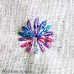 Embroidery stitch how-to