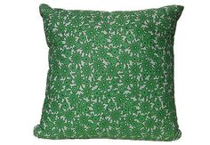 Vintage Green floral and white cushion by SourPussDesigns on Etsy, $35.00