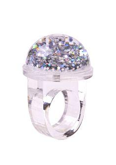 Kitty Joseph // Snow globe ring