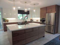 Walnut Kitchen Cabinets – Elegant A Mid Century Modern Ikea Kitchen for A Gorgeous Light Filled Texas Ikea Kitchen Design, Kitchen Cabinet Design, Modern Kitchen Design, Kitchen Interior, New Kitchen, Kitchen Decor, Kitchen Ideas, Country Kitchen, Kitchen Designs