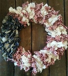 Items similar to American flag wreath, of July Wreath, Fabric Wreath, Americana Decor on Etsy Americana Crafts, Patriotic Crafts, Patriotic Wreath, July Crafts, Patriotic Party, Fourth Of July Decor, 4th Of July Decorations, 4th Of July Wreath, July 4th
