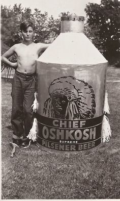 John Kuenzl with beer can from parade. Our Town, Family History, Craft Beer, Brewery, Wisconsin, Advertising, Canning, Style