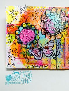 Psycho Moms Scrapbooks: Gelli Prints Journal Page 4 - Possibilities