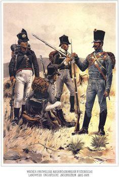 Austrian-Hungarian Landwehr Volunteers 1805-1809, by Rudolf von Ottenfeld.