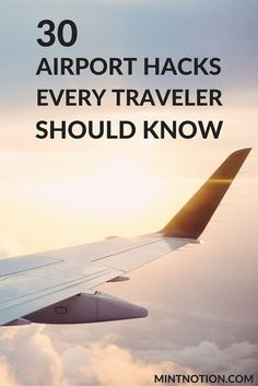 30 airport hacks that every traveler should know. Traveling is fun and exciting, but getting through the airport can be a hectic experience. Check out these travel hacks to make your next trip stress-free. Travelling Tips, Packing Tips For Travel, Travel Advice, Travel Essentials, Travel Guides, Travel Hacks, Packing Lists, Airplane Essentials, Travelling Wilburys