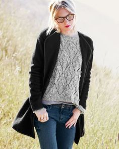 Trimmed Sweater Coat