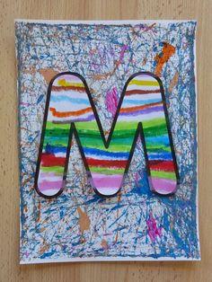 Teaching Letters, Preschool Letters, Preschool Crafts, Kids Crafts, Name Activities, Alphabet Activities, Pre Writing, Writing Skills, Writing