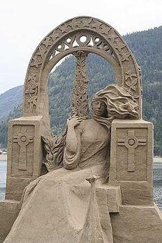 Oregon Beach Sand Sculpture contest 2010 by Eva