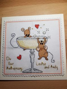 Cross Stitch Cards, Cross Stitch Animals, Greeting Cards, Anniversary, Kids Rugs, Quilts, Strands, Cross Stitch Boards, Kid Friendly Rugs