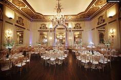 The stunning 1929 Grand Ballroom of the Colony Club...  Flowers, Decor, Chargers & Linens - Petit Fleur Events, Ferndale MI, Lighting - The Lighting Guy LLC
