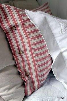 Same fabric, different directions. Love the red ticking.