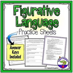 Figurative Language Worksheets - Similes, Metaphors, Idioms, and More! Common Core Ela, Common Core Standards, Similes And Metaphors, Poetry Unit, Figure Of Speech, Thing 1, Teaching Resources, Classroom Resources, Teaching Activities
