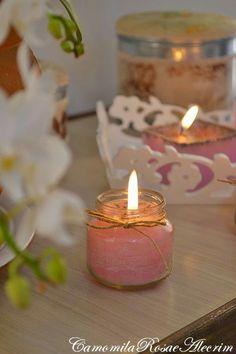 CamomilaRosa e Alecrim: Fazendo velas com embalagens recicladas...