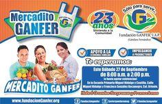 La Colonia Obrera y todos en Peñasco tendrá los beneficios del Mercadito GANFER el próximo sábado, 27 de septiembre. ¡Corre la voz!
