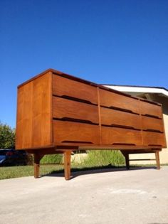 Los Angeles: Mid century modern dresser LONG and LOW walnut 60s eames era vintage  $575 - http://furnishlyst.com/listings/96917