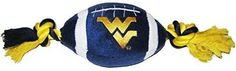Pets First Collegiate West Virginia Mountaineers Football Pet Plush Toy