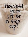 Koekjeshoek: Hoeveel gram zit er in één cup? (en andere Amerikaanse maten)