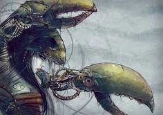 Steam Punk Zodiac: Cancer (22 June - 22 July)