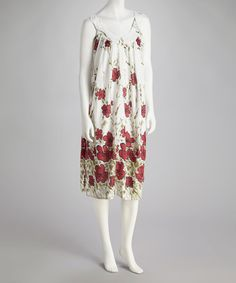 Take a look at this White & Red Floral Shift Dress by Unity on #zulily today! $9.99, regular 29.00