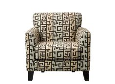Ryann Accent Chair | This accent chair's bold geometric pattern is the perfect way to give your space the dash of drama it needs.