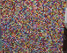 No. 31 Batik Postage Stamp Quilt, 3,136 Pieces. Quilt Front, Studio Juju Quilts, via Flickr