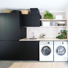 The Little-Known Secrets to Laundry Room Design Ideas There are lots of design ideas in the post basement laundry room which you are able to find, you will see ideas in the gallery. Therefore, if you're searching for design suggestions… Continue Reading → Basement Laundry, Laundry Room Storage, Laundry In Bathroom, Interior Design Living Room, Living Room Designs, Laundry Cabinets, Diy Cabinets, Laundry Shelves, Small Shelves