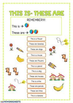 Actividad online de Demonstratives para primero primaria. Puedes hacer los ejercicios online o descargar la ficha como pdf. English Class Activity Ideas, English Activities For Kids, English Worksheets For Kindergarten, Learning English For Kids, English Worksheets For Kids, English Lessons For Kids, Kids English, 1st Grade Worksheets, English Book
