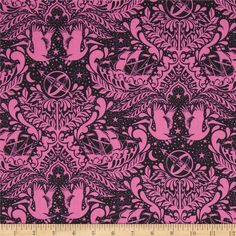Tula Pink Elizabeth Ship Shape Sky from @fabricdotcom  Designed by Tula Pink for Free Spirit, this cotton print is perfect for quilting, apparel and home decor accents. Colors include pink and black.