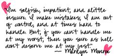 quotes | Marilyn Monroe Quotes Quotes Myspace Graphics