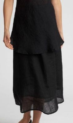 tiered Flax skirt