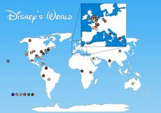 Map of all the Disney movies and where they were filmed.
