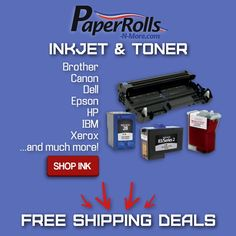 Shop PaperRolls-N-More... to find free shipping deals  on your ink & toner needs. From Brother to Xerox, HP to Epson, we have everything you need!