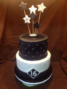Sweet 16 Custom Cakes, Sweet 16, Desserts, Food, Personalized Cakes, Meal, Personalised Cake Toppers, Sweet Sixteen, Deserts