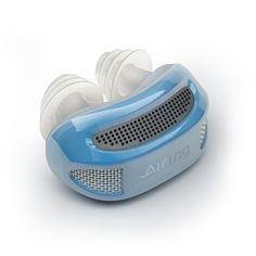 Airing™ Revolutionary Micro-CPAP | Provides a treatment alternative to a large, noisy CPAP machine with a mask or mouthpiece. A lightweight nasal appliance that weights less than 1 oz makes it an attractive option to other products and devices. The unit is battery-powered and lasts for 8 hours. It is still being developed and waiting for FDA approval.