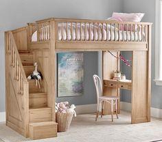 Home Interior Loft .Home Interior Loft Bunk Beds With Stairs, Kids Bunk Beds, Low Loft Beds, Loft Bed Stairs, Bunk Bed Desk, Unique Kids Beds, Queen Loft Beds, House Beds For Kids, Cool Beds For Kids