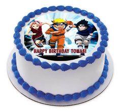 Naruto Shippuden Edible Birthday Cake Topper