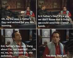 Del Boy, Diamond Geeza: 'I used to miss my dad until I learned to punch straight' Miss My Dad, Only Fools And Horses, Funny Scenes, Horse Quotes, The Fool, Dads, Lettering, Learning, Tv