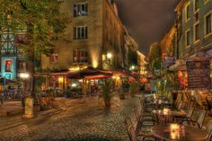 Wagnergasse am Abend (Kneipenmeile) in Jena