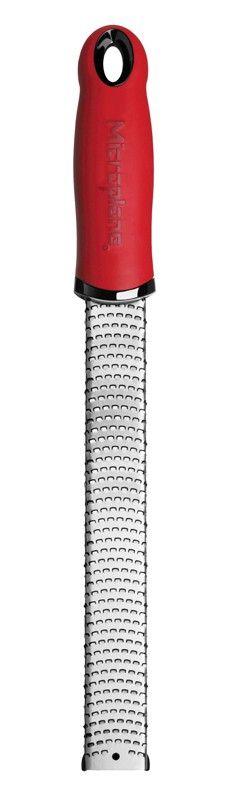 Zester, rivjärn, med stödknoppar och handtag, Premium Classic, röd - KitchenLab