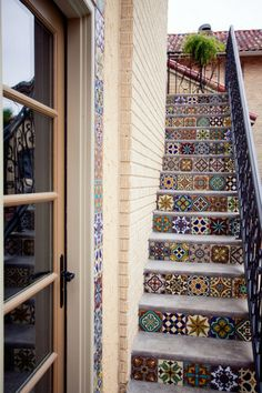 Patchwork Fliesen treppen (Step Design Projects)
