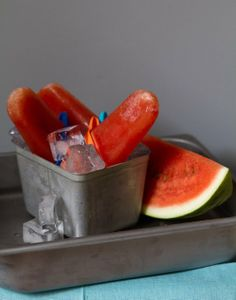 Recipe:  Watermelon Popsicles   Recipes from The Kitchn