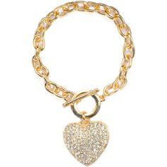 Jeweliq Pave Heart Bracelet