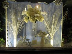 Winter window display  http://www.candisfloralcreations.com