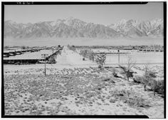 At the Manzanar Relocation Center, 1943. Photograph by Ansel Adams.