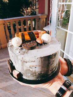 Jhonnie Walker topper - concrete cake , boy cake
