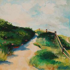 "Oil Nantucket Path, ""Steps Beach"" by Meredith Hanson"