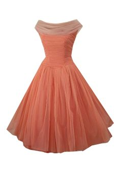40's style dress, this is so gorgeous. Peach color but can be ordered in any other color.