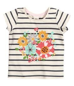 Short-sleeved Top with Print /// Art.No. 72-8924/// Size: 12-18months/// Color: Dark blue/Striped/// Price: $6.95 /// H