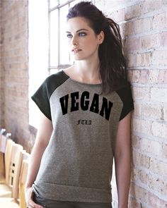Eco Fleece Short Sleeve Gym Rat Pullover - VEGAN FTLA - For The Love of Animals by FTLA Apparel