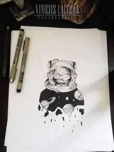 Top Astronaut Tattoo Designs Ideas of 2019 – Goosetattoo Astronaut Tattoo, Astronaut Drawing, Kunst Tattoos, Body Art Tattoos, Space Tattoos, Cool Drawings, Tattoo Drawings, Pencil Drawings, Tattoo Und Piercing